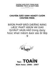 Bao cao chuyen de Toan cum 2006-2007 cua Truong THCS Le Quy Don.doc
