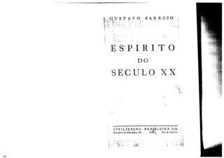 O Espírito do Século XX - Gustavo Barroso.PDF