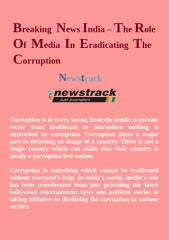 Breaking News India - The Role Of Media In Eradicating The Corruption.pdf