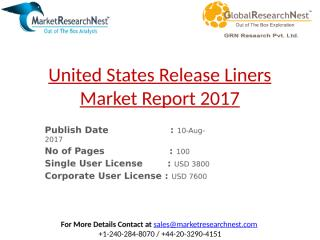 United States Release Liners Market Shipment by Vendors 2017.pptx