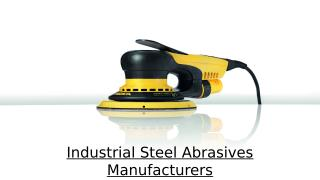 Industrial Steel Abrasives Manufacturers in UAE.pptx