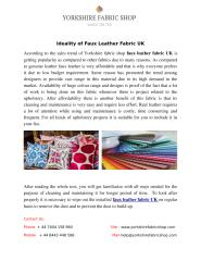 Ideality of Faux Leather Fabric UK.pdf