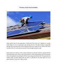 The Basics of Solar Panel Installation.pdf