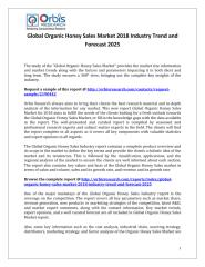 Global Organic Honey Sales Market 2018 Industry Trend and Forecast 2025.pdf