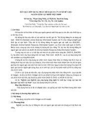 Kết quả xây dựng phân mềm quản lý cơ sở dữ liệu nguồn gen vật nuôi Việt Nam Tác giả- Võ Văn Sự - Báo cáo khoa học năm 2010.pdf