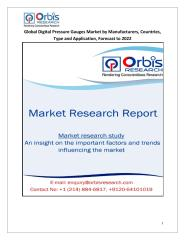 Global Digital Pressure Gauges Market by Manufacturers, Countries, Type and Application, Forecast to 2022.pdf