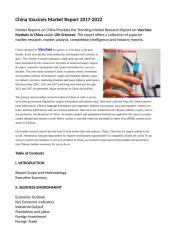 China Vaccines Market Report 2017-2022.doc
