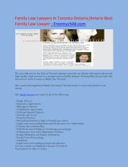 Family Law Lawyers in Toronto Ontario Ontario Best Family Law Lawyer  Freemychild com.pdf