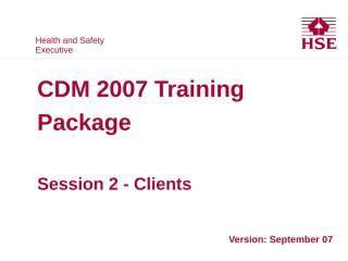 HSE CDM 07 02 Clients.PPT