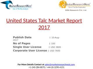 United States Talc Market Report 2017.pptx