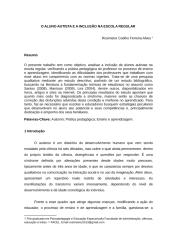 artigo rosimeire facel         O ALUNO AUTISTA E A INCLUSÃO NA ESCOLA REGULAR.docx