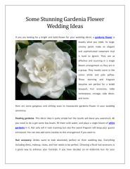 Some Stunning Gardenia Flower Wedding Ideas.pdf