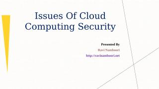 Cloud Computing Security Risks -RaviNamboori.pptx