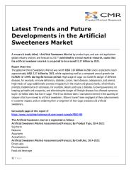 Latest Trends and Future Developments in the Artificial Sweeteners Market.pdf