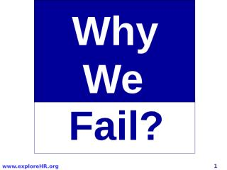 Why We Fail.ppt
