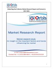 Global Bag Dust Collector Market Research Report and Forecast to 2017-2021.pdf