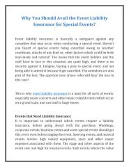 Why You Should Avail the Event Liability Insurance for Special Events.pdf