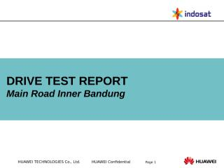 Drivetest Report_Main Road DT Inner Bandung Area.ppt