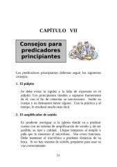 7 consejos para predicadores principiantes, cap 7.doc