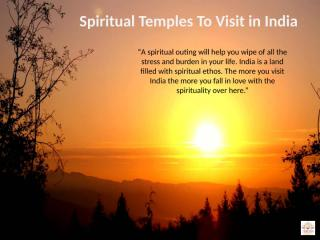 Spiritual Temples to Visit in India.pptx
