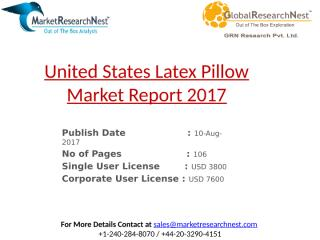 United States Latex Pillow Market Report 2017.pptx